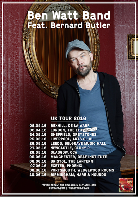 UK Tour Dates, April - June 2016
