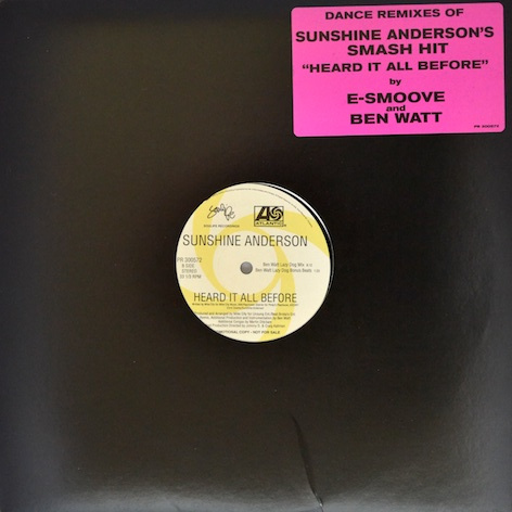 Sunshine Anderson / 'Heard It All Before' (Ben Watt Remix)